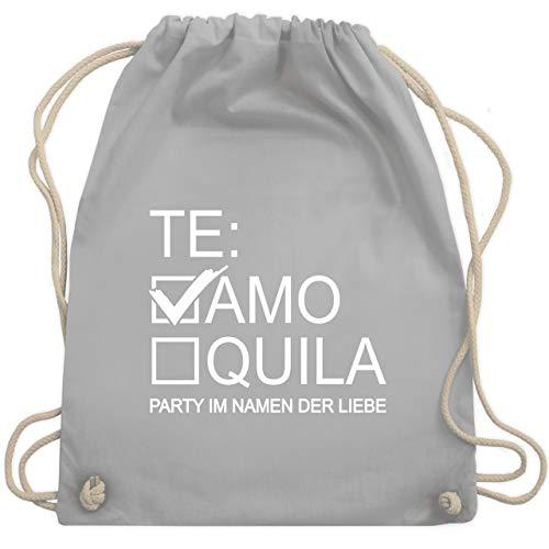 Shirtracer JGA Junggesellenabschied Frauen - Teamo/Tequila - weiß - Unisize - Hellgrau - Fun - WM110 - Turnbeutel und Stoffbeutel aus Baumwolle