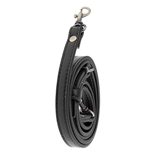Baoblaze Lederriemen Lederband Taschen Riemen für Damen Taschen Umhängetasche Schultertasche - schwarz