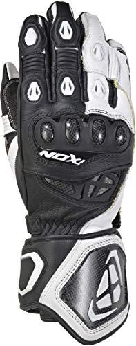 Ixon Rs Genius Rep - Guantes de moto (talla XL), color negro y blanco