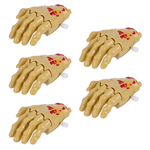 PRETYZOOM 5 Stücke Kinder Aufziehspielzeug Halloween Hand Skelett Figur Mitgebsel Uhrwerk Spielzeug Aufziehfigur Dekofigur Tischdeko für Kindergeburtstag Party Deko