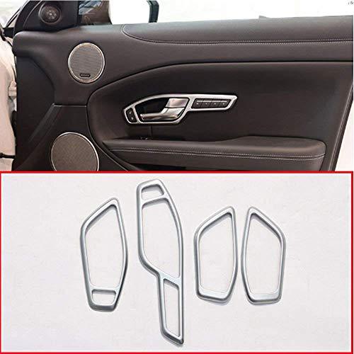 Accessoire Automobile intérieur, Uniquement pour UK RHD RR Evoque 2012-2015, Garniture de Cadre de poignée de portière de Voiture en Plastique ABS Argent Mat, 4 pcs/Set