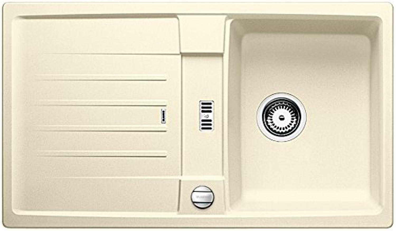 whiteOLEXA 45 S inset sink, jasmine, SILGRANIT?, for 45-cm-cabinets, reversible basin, 514655