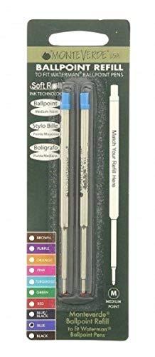 Monteverde J223303 Blister 2 Refill per Penna a Sfera Waterman