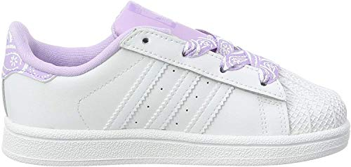 adidas Superstar I, Zapatillas Unisex Niños, Blanco (FTWR White/FTWR White/Purple Glow FTWR White/FTWR White/Purple Glow), 26.5 EU