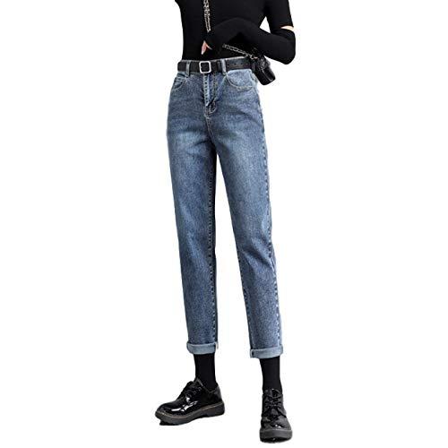 Jeans de Cintura Alta para Mujer Pantalones de Mezclilla Harlan de Ajuste Regular, Holgados, versátiles, Informales, cómodos y Lavados, clásicos 30