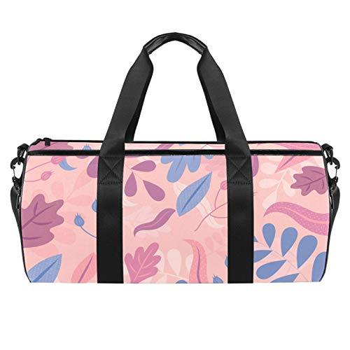 HANDIYA Sporttasche für Herren/Damen, 45,7 cm, handgezeichnetes abstraktes Blumenmuster, Pastellfarben