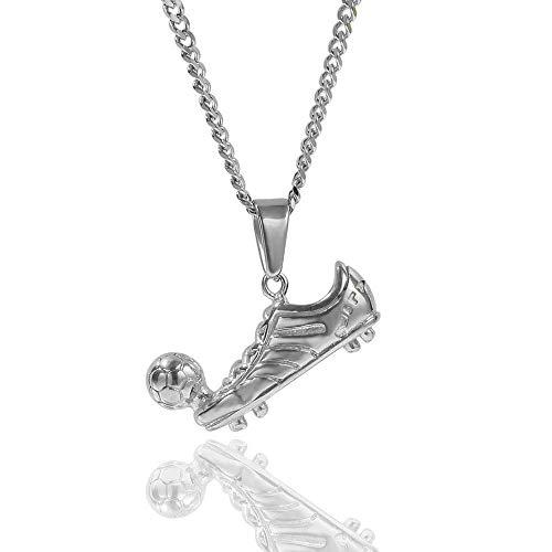 Hip Hop Fußball Turnschuhe Anhänger Personalisierte Edelstahl Halskette Herrenschmuck Schuhe Anhänger (Gold, Silber)