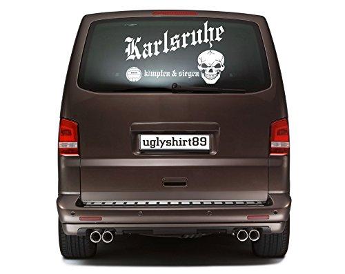 Karlsruhe Autoaufkleber 45 cm | Hardcore | Sticker | Aufkleber | KSM1
