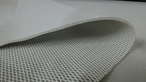 StoffBook HELLGRAU 3D ABSTANDSGEWIRKE NETZ 4MM STOFF STOFFE, C977