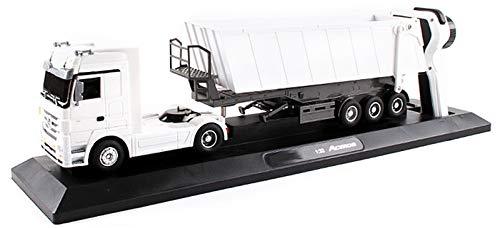 Xbswhm Camión Volquete RC 1:32, Camión Eléctrico Inclinable de 10 Ruedas, Vehículo de Elevación Automática con Control se Radio, Juguetes Electrónicos para Pasatiempos, Camiones para Niños,Blanco