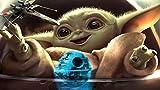 Amnogu Puzzles 1000 Piezas De Rompecabezas para Adultos Y Niños, Juego De Rompecabezas Baby Yoda, Juegos Familiares, Regalo De Decoración del Hogar