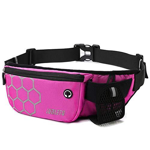 Fugift Women Men Waist Running Belt Pack Pouch Gym Fitness Water Bottle Bag Mobile Cell Phone Sports Accessories Camping Hiking Supplies