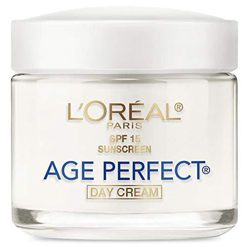 Face Moisturizer With Spf 15 By L'Oreal Paris, Age Perfect Anti-Aging Day Cream With Spf 15...