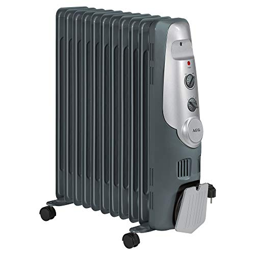 AEG RA 5522 - Radiador de aceite, 2200 W, 11 elementos, termostato, 3 niveles de...