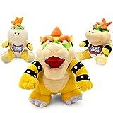 Juguete De Peluche 3 Unids/Set Super Mario Bros Juguete De Felpa 18-24 Cm Bowser Jr Koopa Bowser Dragón Muñeco De Peluche Hermanos Felpa Suave