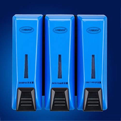 LDDLDG Dispensador de Jabón Bomba dispensadora de líquido montada en la Pared, Botella de jabón de Lavado Manual a presión de una Cabeza, a Prueba de Fugas, 1050 ml (Color : Blue)