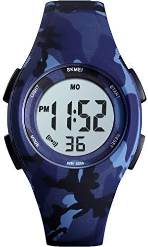 Digitaluhr Outdoor Sport Jugendliche Mädchen Uhr mit Schrittzähler Kinder Jungen Digital 5ATM Wasserdicht Armbanduhr Elektronisch