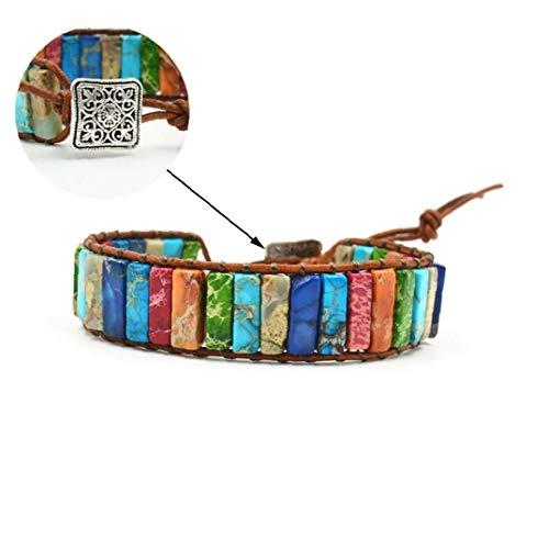 7 Chakra Pulsera Ajustable de Bohemia joyería Hecha a Mano Pulseras Trenzadas Chakra Piedra cristalina de curación joyería para Las Muchachas de Las Mujeres Collar de Cadena de joyería de Las Mujeres