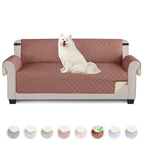 TAOCOCO Funda de sofá Impermeable Funda de cojín de protección para Mascotas Funda de sofá antisuciedad (Rojo Terracota / 3 Plazas 165 * 190cm)