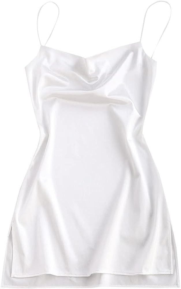 ZAFUL Women's Sexy Mini Party Club Dress Spaghetti Strap V Neck Slip Short Dress