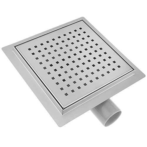 PrimeMatik - Scarico Doccia Quadrato 20 cm. Canaletta di drenaggio a Pavimento in Acciaio Inossidabile con griglia