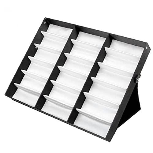 18 Gafas de cuadrícula Mostrar Caja de Mostrar Gafas de sol Caja de almacenamiento Organizador Soporte de soporte para anteojos Sunglass Lover