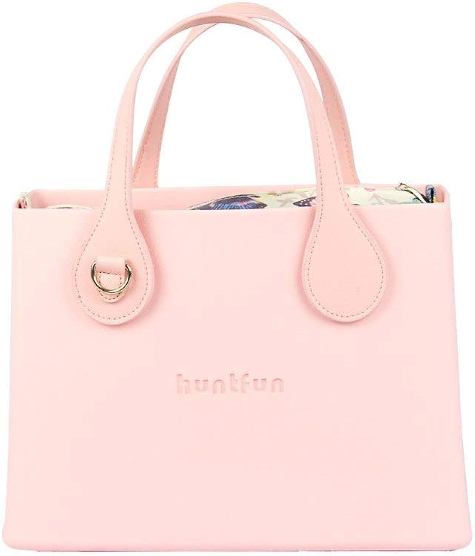 Bloomerang tanqu huntfun EVA Square Bag with Floral Insert Flat D buckleHandle Waterproof Obag Style Women O Bag Handbag color Pink