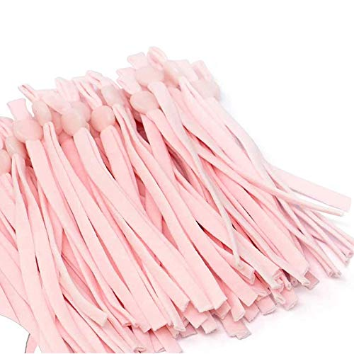 100 Pcs Sewing Elastic Bands with Adjustable Cord Lock, High Stretch Elastic String Cord Thread Rope for DIY Crafts Earloop Lanyard Sewing Making Supplies(Pink)