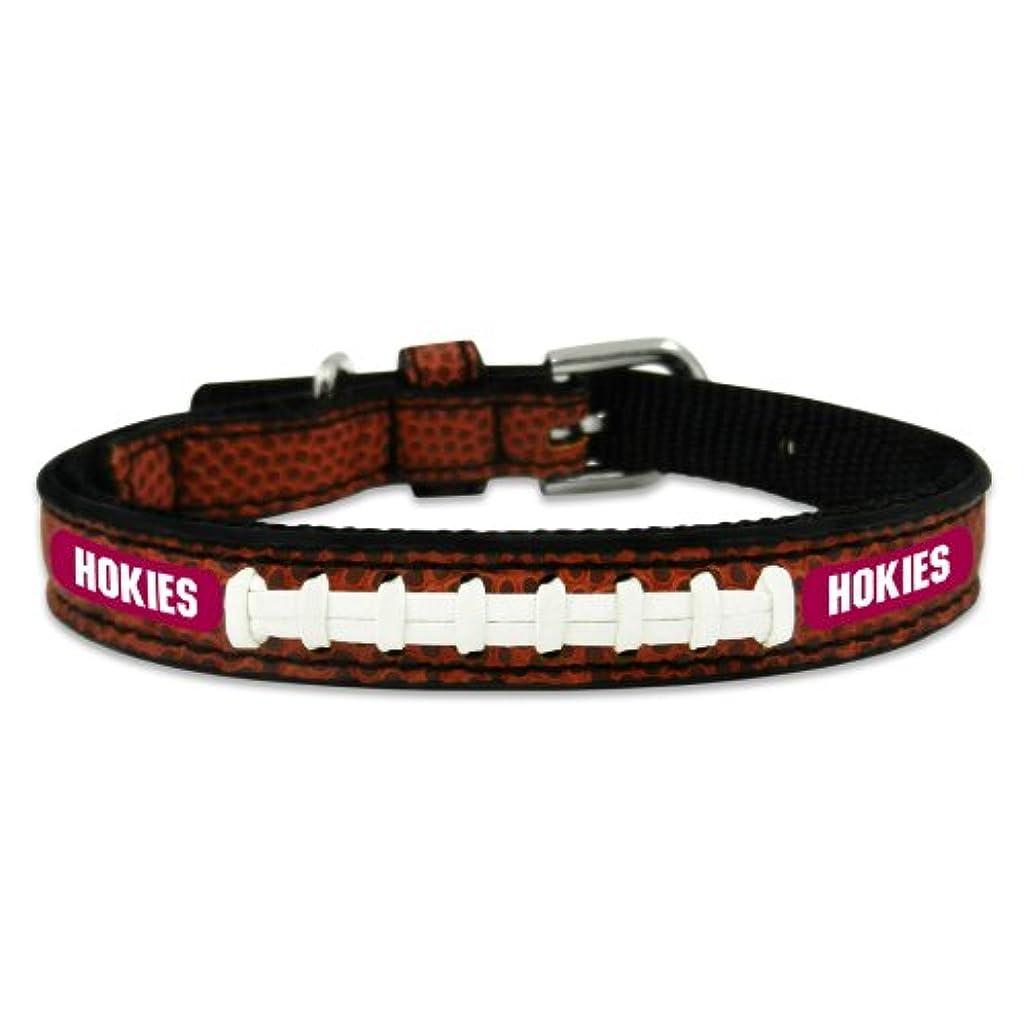 牧師あいさつ評価Virginia Tech Hokies Classic Leather Toy Football Collar