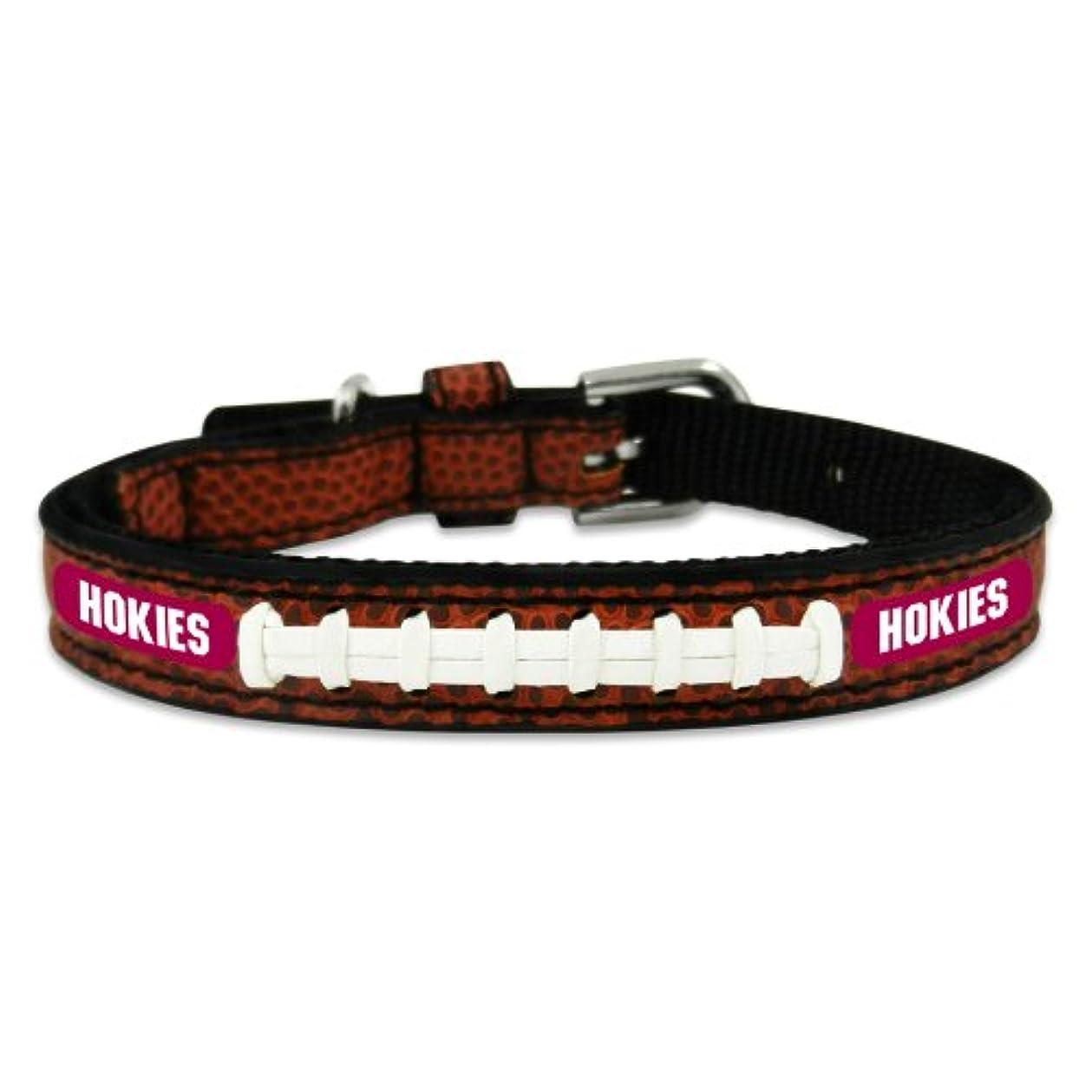 慢なダルセットシールVirginia Tech Hokies Classic Leather Toy Football Collar