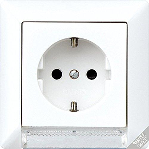 Jung AS520-OBFLEDW Schuko -Steckdose mit LED-Orientierungslicht, Farblich sortiert ( Weiß/Beige)
