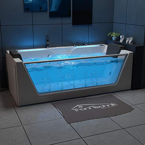 Tronitechnik Whirlpool Badewanne KOS 2 179cm x 85cm mit Heizung, Hydromassage, Bachlauf und Farblichtherapie
