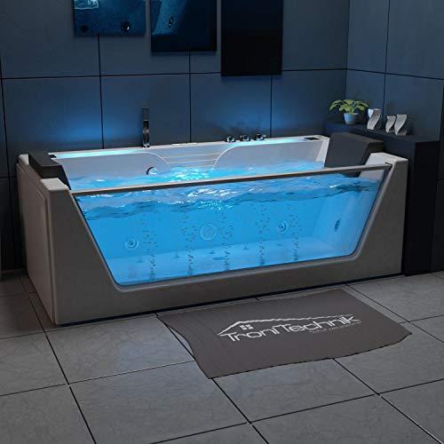 Tronitechnik whirlpool bathtub KOS 2 179cm x 85cm with heating, hydromassage, stream and ...