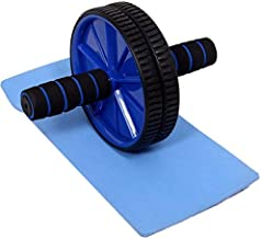 Fedus® Ab Wheel Roller Multicolor with Free Knee Mat and Anti-Slip Handles and Storage Box Perfect Abdominal Core Carver Fitness Workout for Abs Exercise and Strengthen Your Abs and Core
