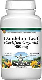 Dandelion Leaf (Certified Organic) - 450 mg (100 Capsules, ZIN: 517633) - 2 Pack
