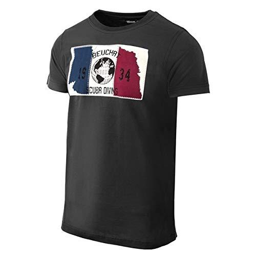 BEUCHAT - Maglietta da Uomo, Uomo, T-Shirt, 143193, Nero, M