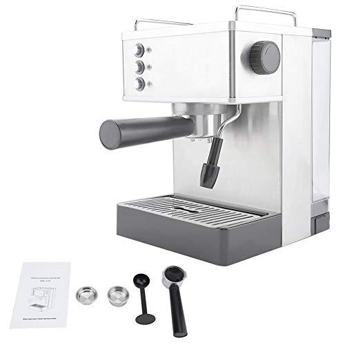 Ekspres do Kawy Espresso, Komercyjny Domowy Ekspres do Kawy Stal Nierdzewna Z 2 * Filtr Siatkowy 19-BAR Włochy Pompa Ciśnieniowa, do Cappuccino, Latte, Macchiato, Long Black(biały 220-240v)
