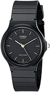 Casio Unisex-Adult Quartz Watch, Analog Display and Resin Strap MQ-24-1E