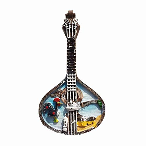 Portugese gitaar 3D-koelkastmagneet Ambachten Souvenir Hars Magneten Collectie Reisgeschenk
