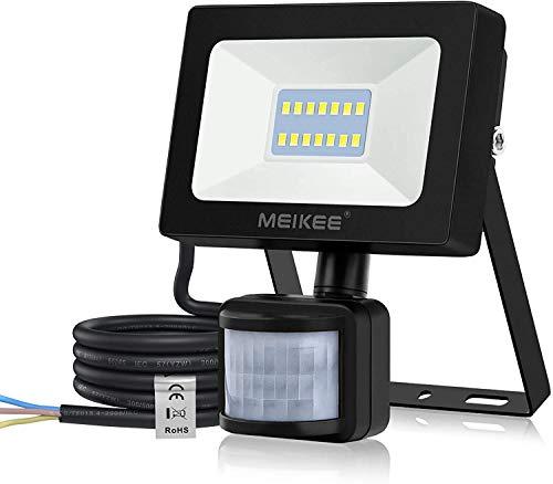 MEIKEE Faretto LED 15W con rilevatore di Movimento 1400LM proiettore LED Super Luminoso IP66 proiettore...