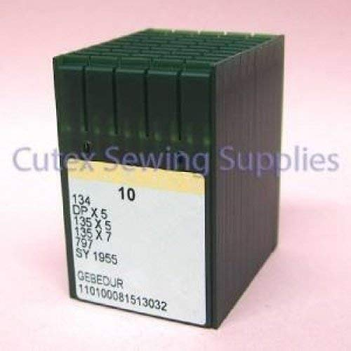 100 Groz-Beckert 134 135X5 DPX5 SY1955 Gebedur Titanium Sewing Machine Needles (Size 18 (metric 110))