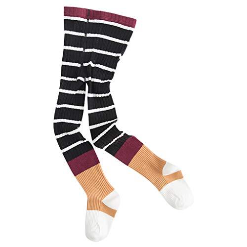 Baby Panty Kids Katoen Panty Winter Streep School Leggings Broek 1-3 Years Zwart