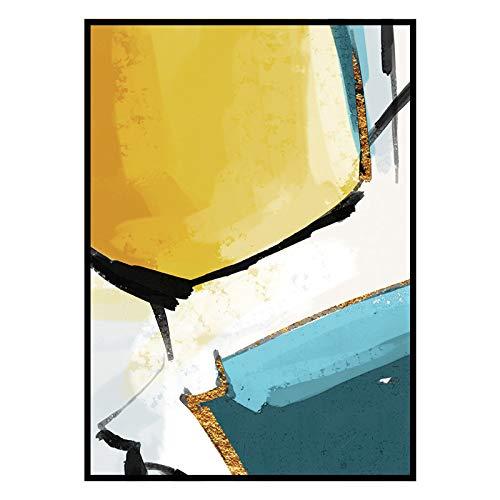 baodanla Kein Rahmen Nordisches Ölgemälde modernes minimalistisches abstraktes Ölgemälde JB02...