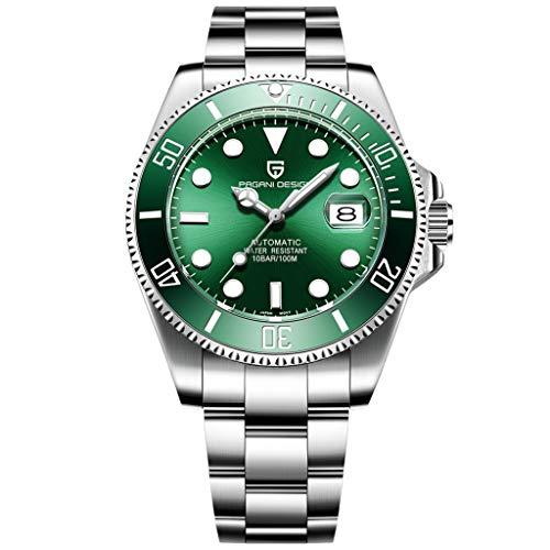 Reloj de pulsera mecánico automático completo para hombre, reloj analógico de acero inoxidable para ocasiones elegantes, informales, negocios, de vestir