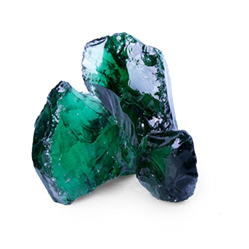 Glas Green GS, 50-120er Korn, Glas Gabionensteine von GSH - 20 kg/Sack