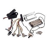 FITYLE Active Guitar Pickup Humbucker & circuito electrónico batería caja Set para LP guitarras eléctricas piezas de repuesto