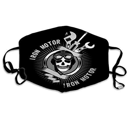 Maske schutzmaske Mund atmungsaktives Scraf Bandana Emblem Menschlicher Schädel Helm Motorradfahrer und Werkzeuge für Reparaturbanner mundschutz Maske
