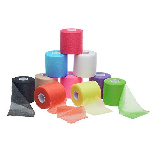 ZiATEC Power Underwrap - Unterverband aus Schaumstoff - Elastische-Binde in viele Farben, Farbe:5 x rot (5 rolls)