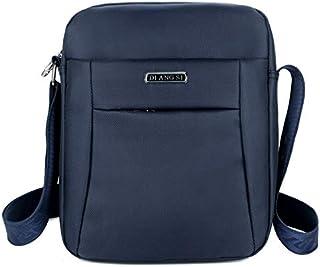 DIEBELLAU Fashion Waterproof Oxford Cloth Shoulder Messenger Bag Outdoor Simple Travel Men's Backpack (Color : Blue)