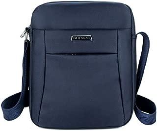 Fashion Waterproof Oxford Cloth Shoulder Messenger Bag Outdoor Simple Travel Men's Backpack (Color : Blue)